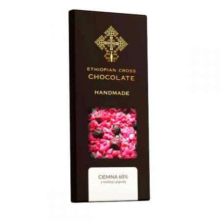 czekolada ciemna z malinami i jagodami